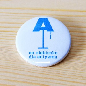 "Button ""Na niebiesko"" 37 mm"